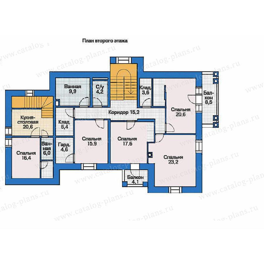 План 2-этажа проекта 36-28