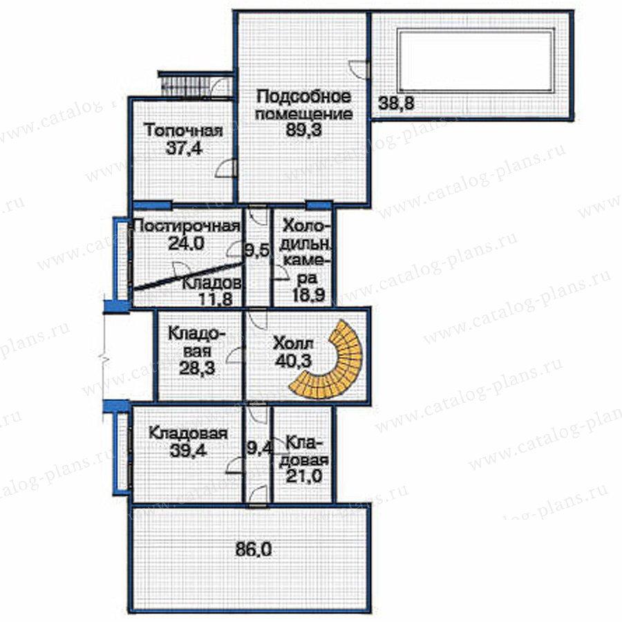План 1-этажа проекта 36-64