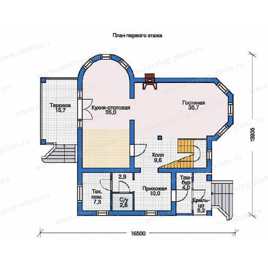 План 1-этажа проекта 36-30