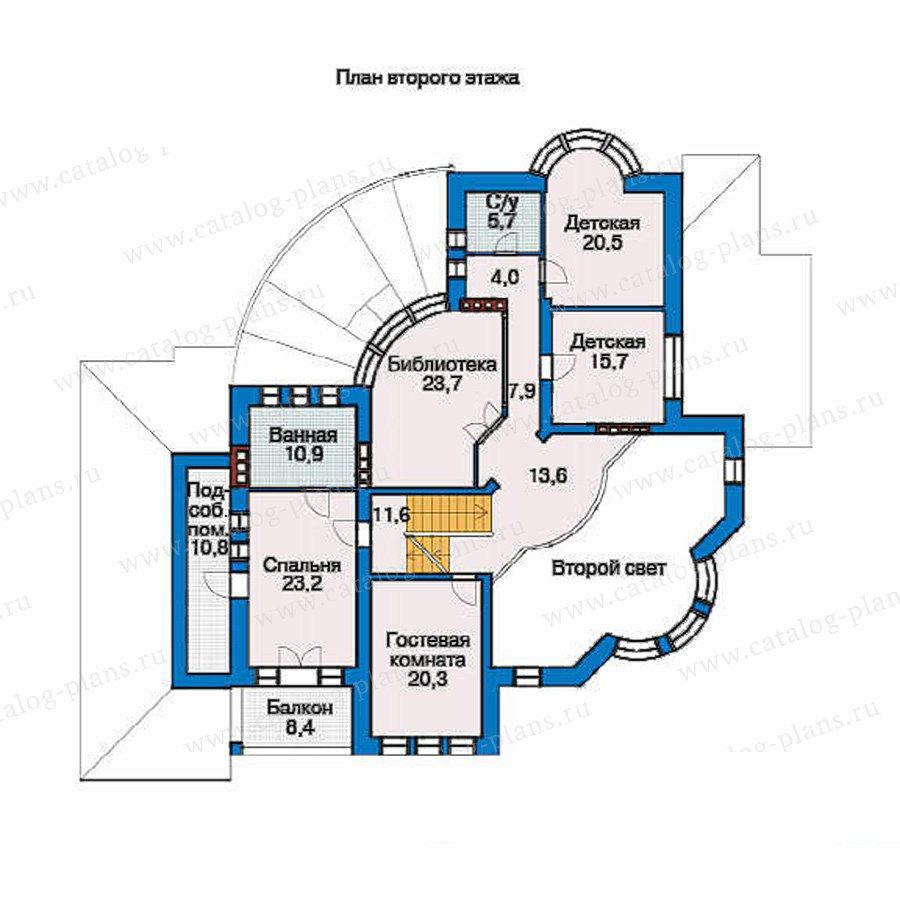 План 2-этажа проекта 36-18