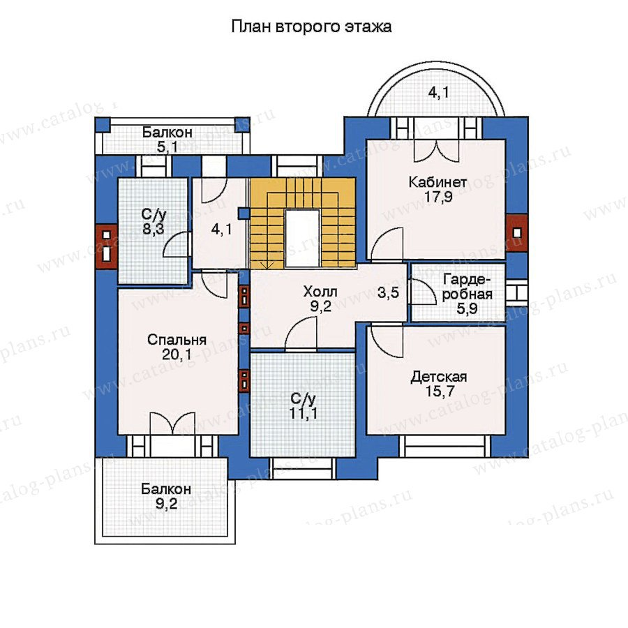 План 2-этажа проекта 36-11