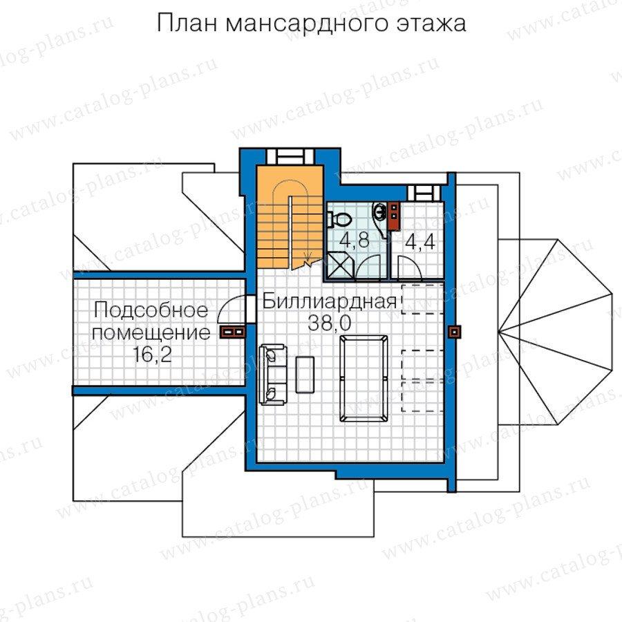 План 3-этажа проекта 60-44