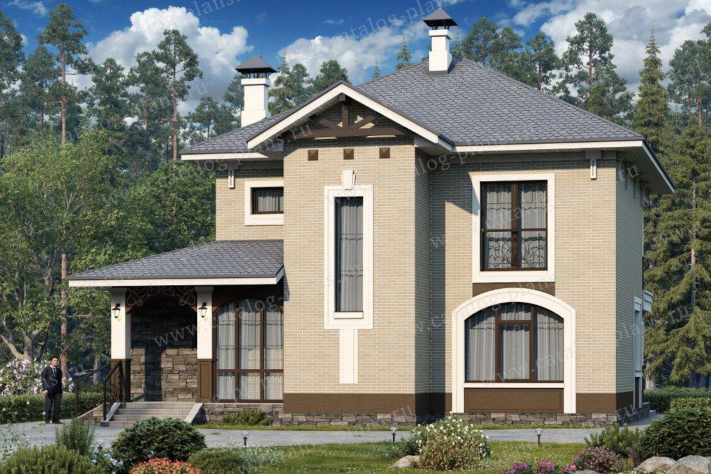 Проект жилой дом #60-41 материал - газобетон, стиль европейский