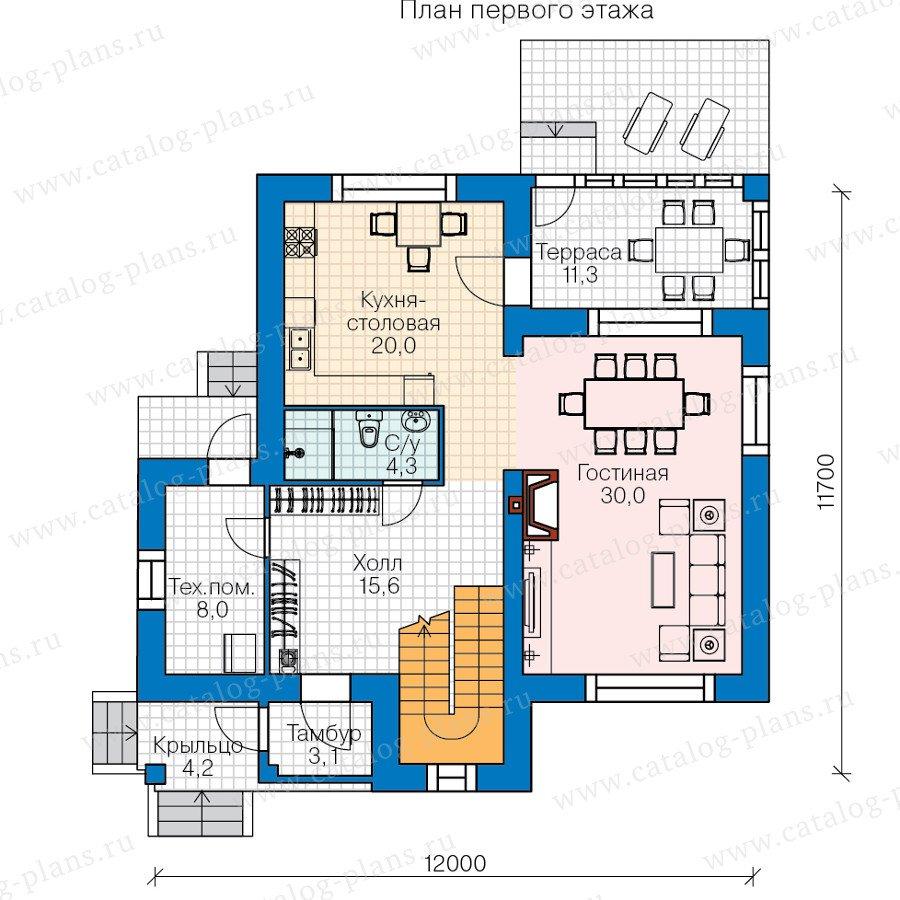 План 1-этажа проекта 60-41