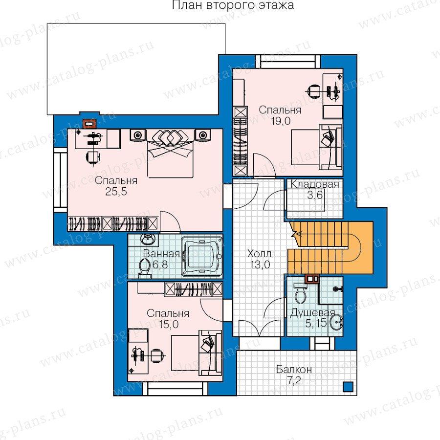 План 2-этажа проекта 60-38