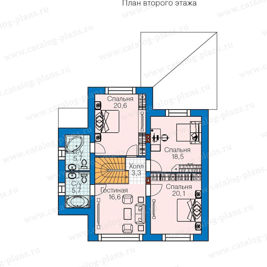 План 2-этажа проекта 60-43