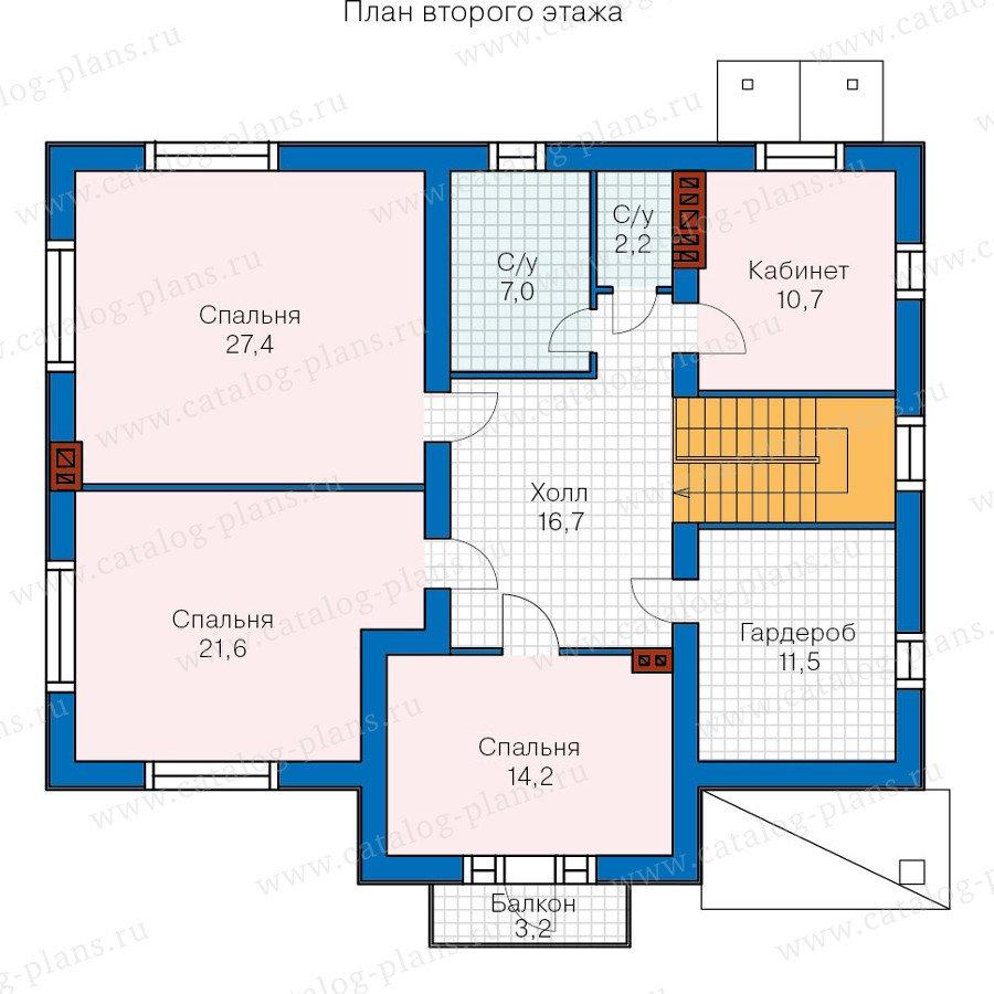 План 2-этажа проекта 60-31