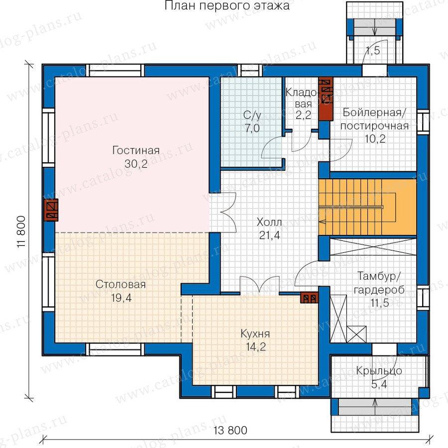 План 1-этажа проекта 60-31