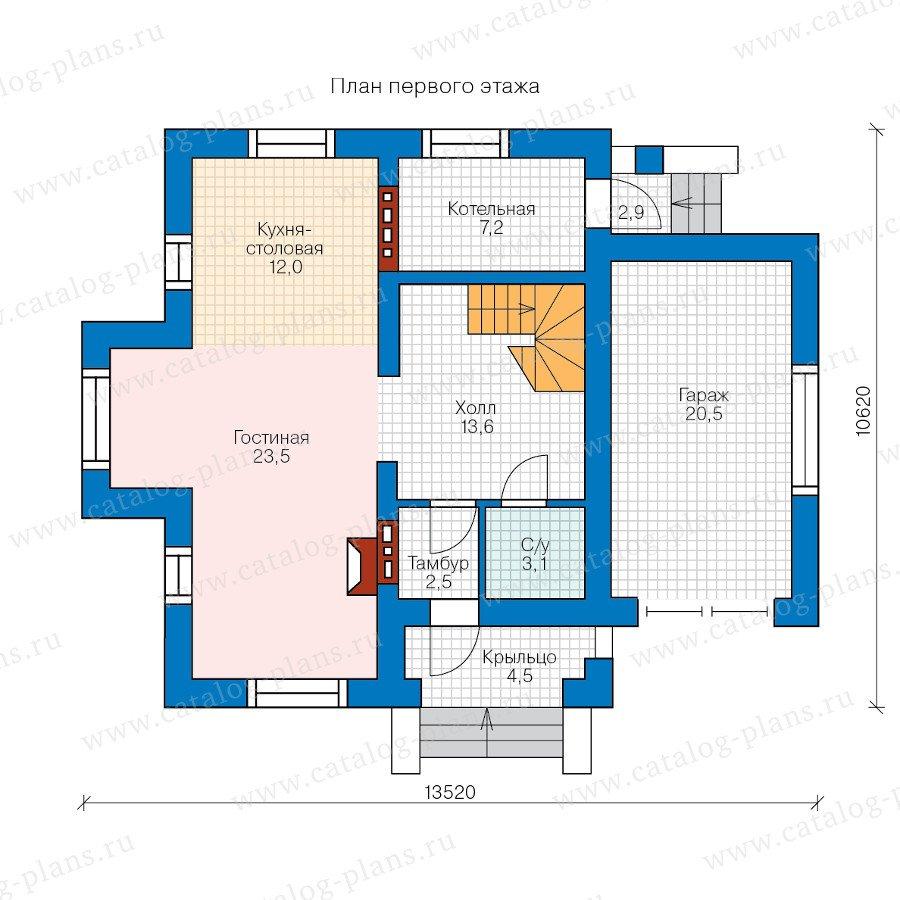 План 1-этажа проекта 60-35