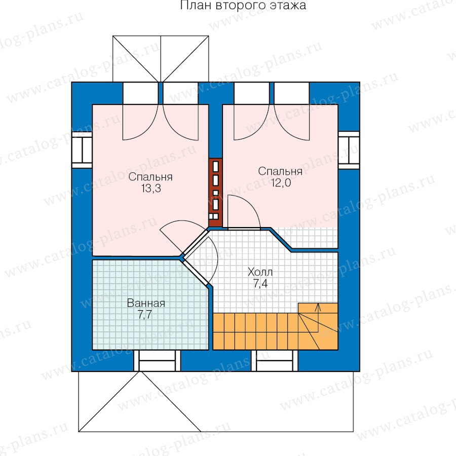 План 2-этажа проекта 60-36