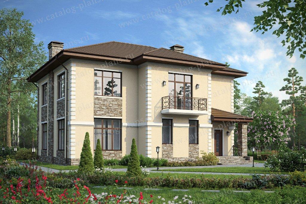 Проект жилой дом #60-31 материал - газобетон, стиль европейский