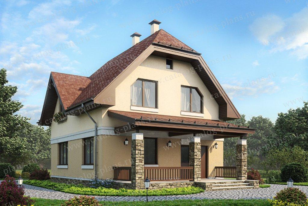 Проект жилой дом #60-26 материал - газобетон, стиль немецкий