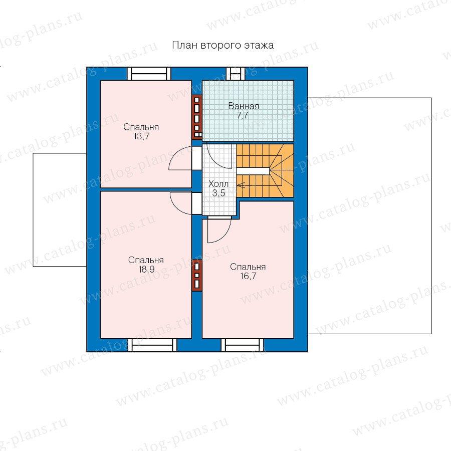 План 2-этажа проекта 60-35