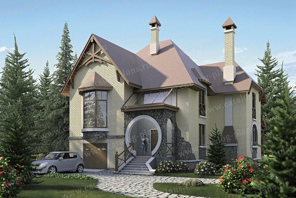 Проект жилой дом #35-69 материал - кирпич, стиль модерн