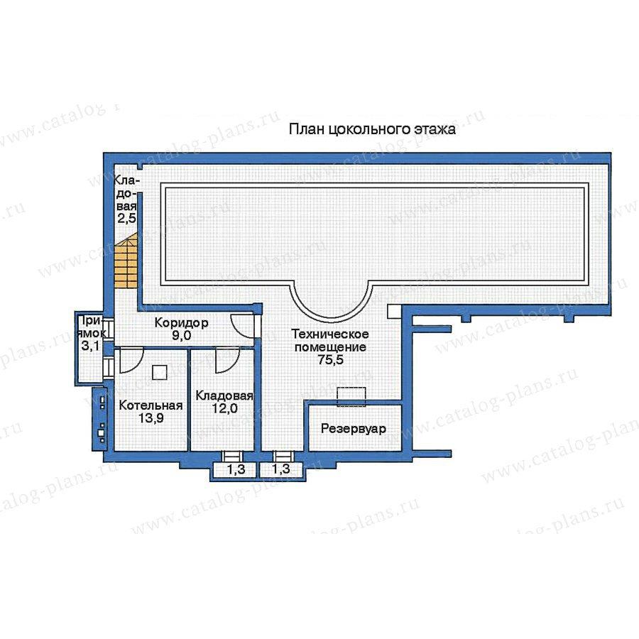 План 1-этажа проекта 35-62