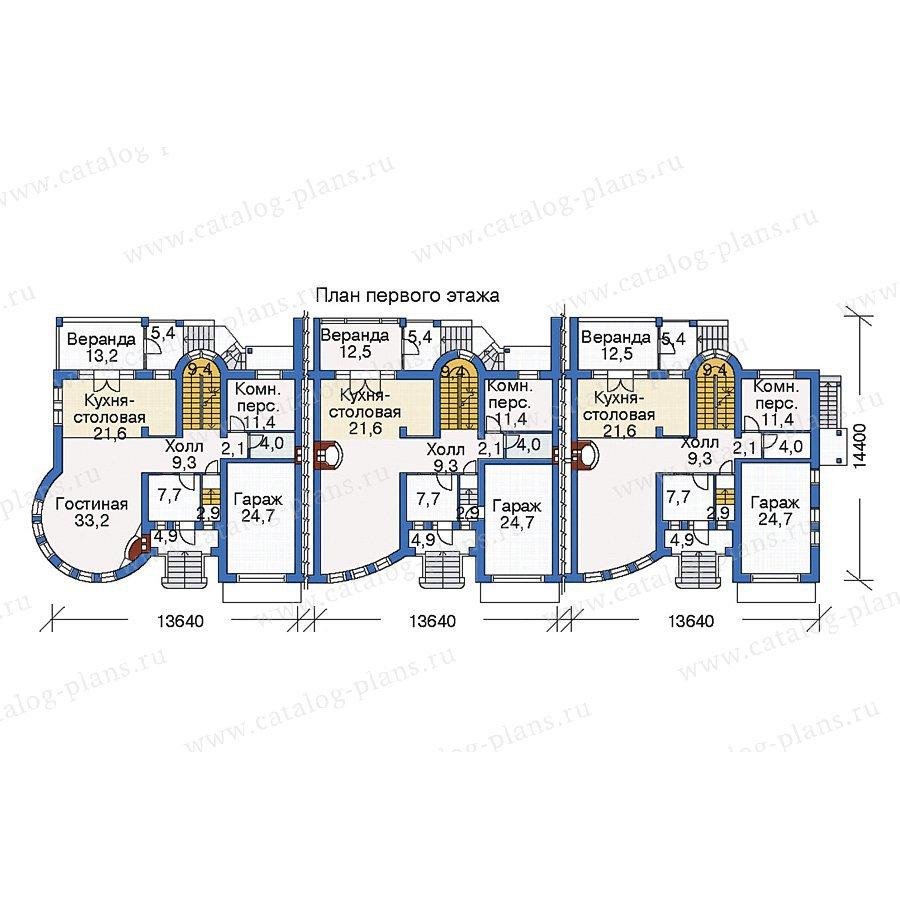 План 1-этажа проекта 35-20