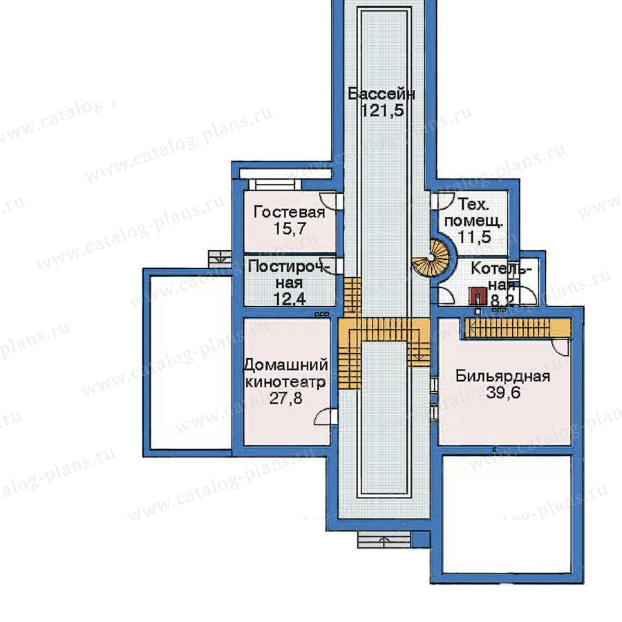 План 1-этажа проекта 35-67