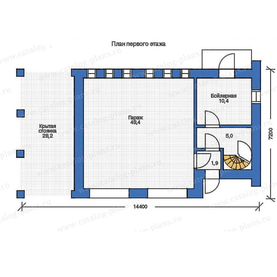 План 1-этажа проекта 35-66