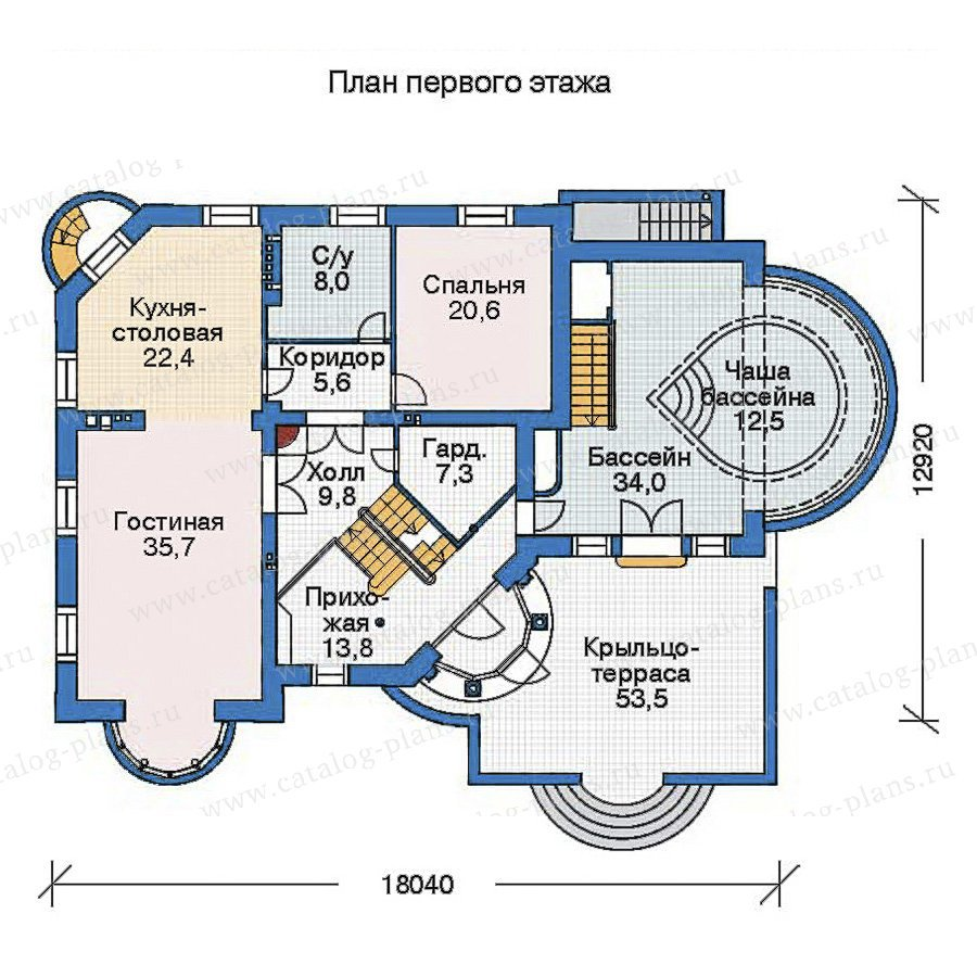 План 2-этажа проекта 35-87