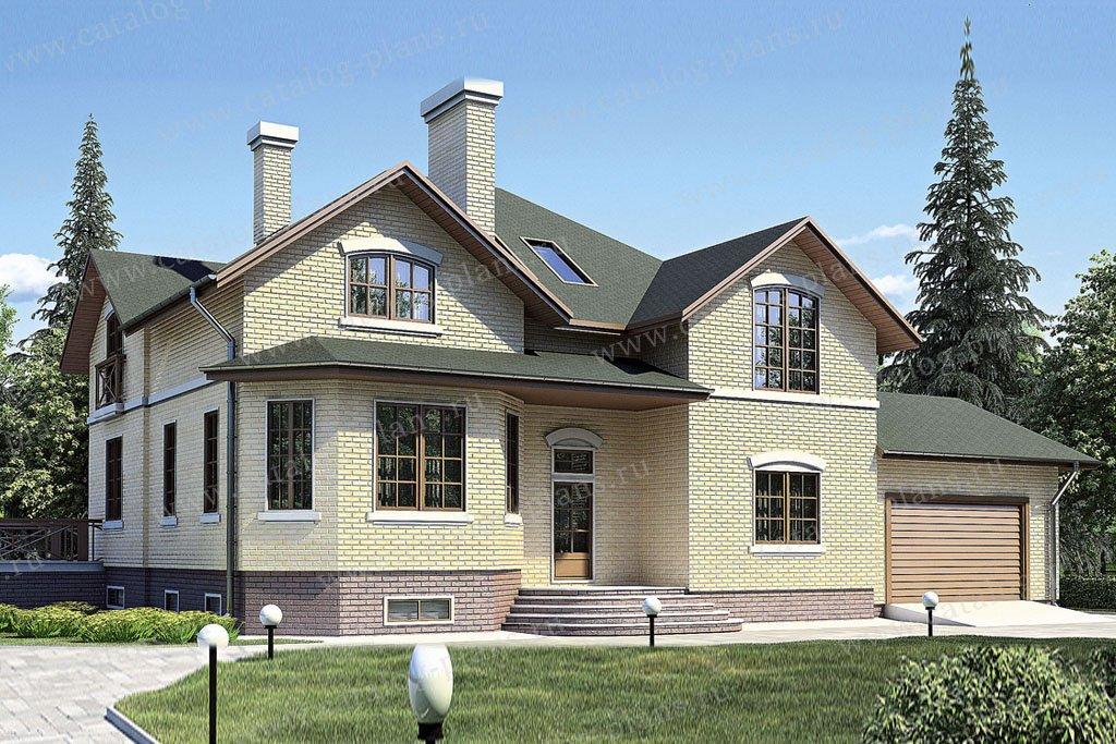 Проект жилой дом #35-91 материал - кирпич, стиль европейский