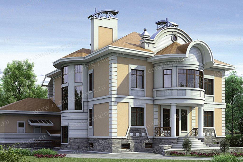 Проект жилой дом #35-24 материал - кирпич, стиль рококо