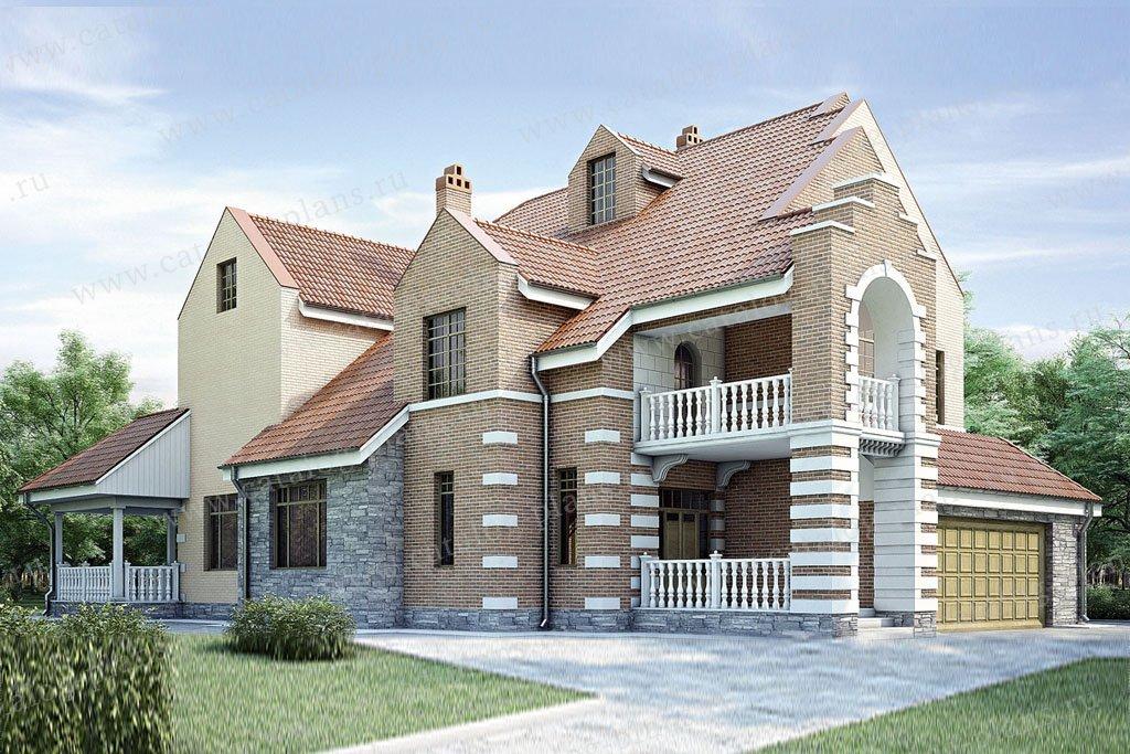 Проект жилой дом #35-08 материал - кирпич, стиль итальянский