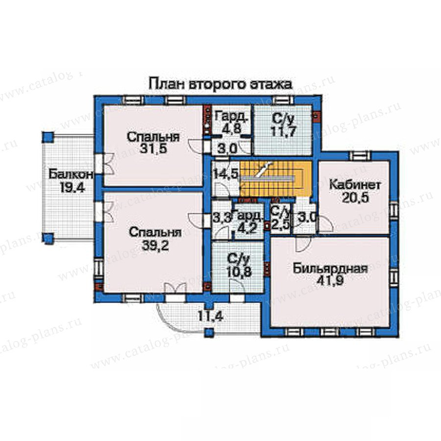 План 3-этажа проекта 35-82