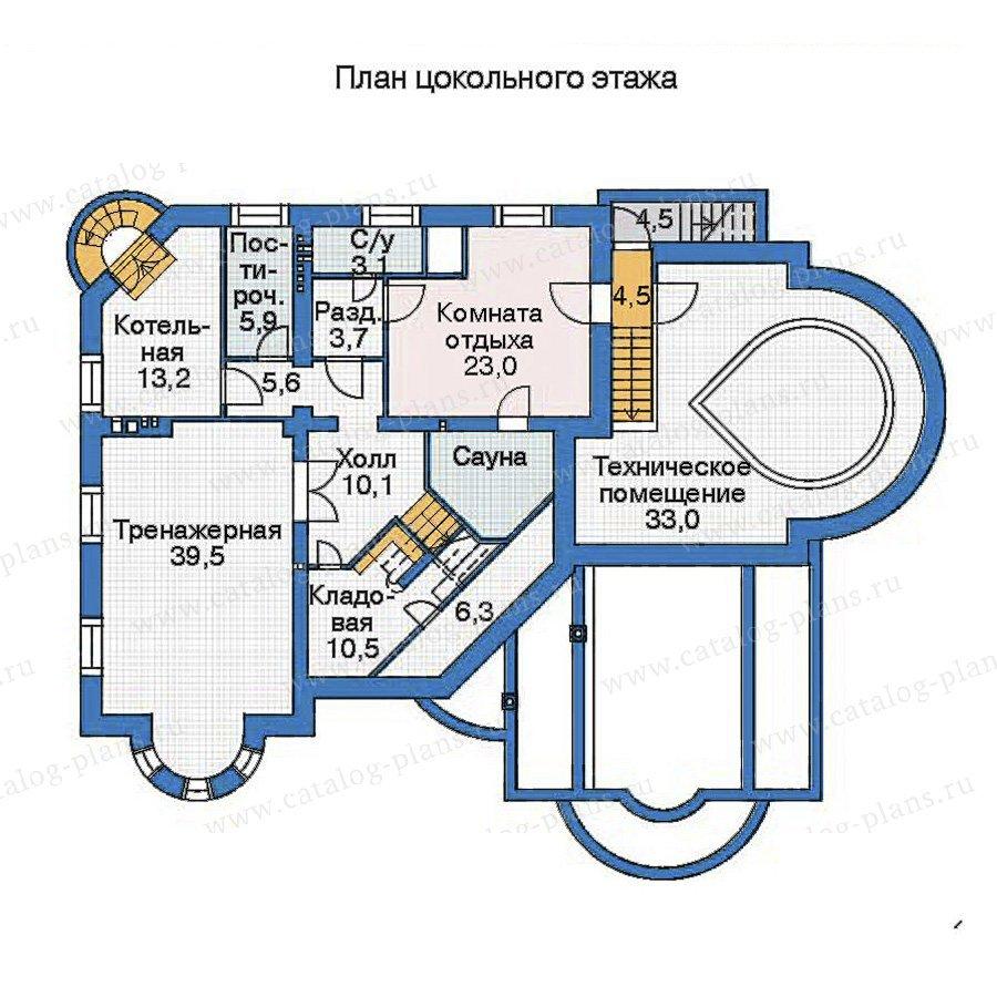 План 1-этажа проекта 35-87