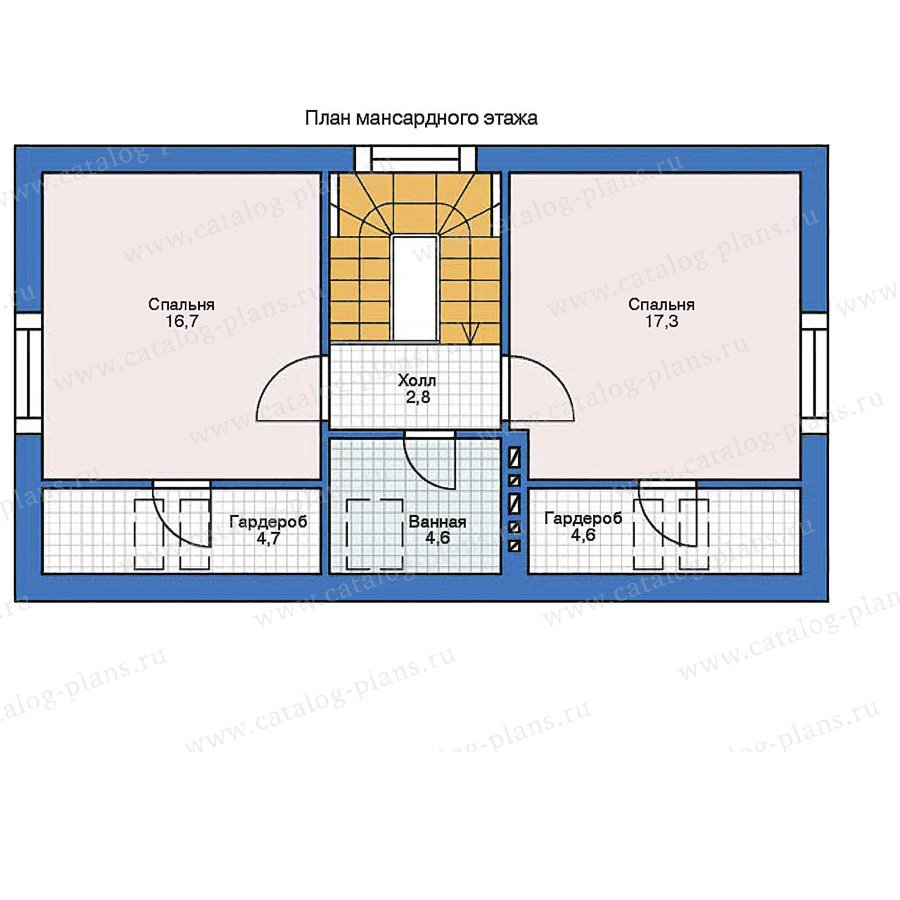 План 2-этажа проекта 35-39