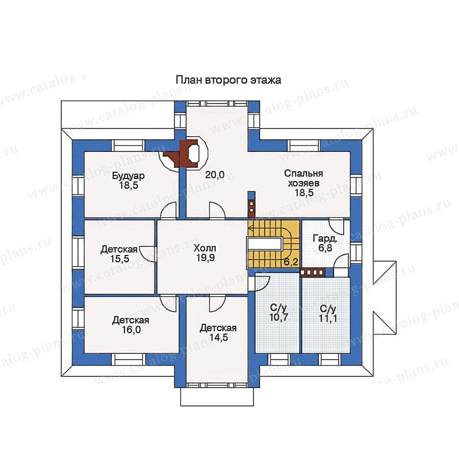 План 2-этажа проекта 35-21