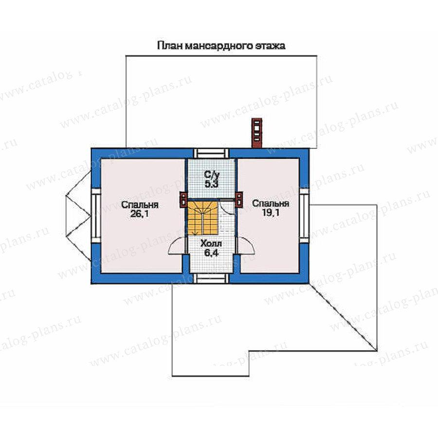 План 2-этажа проекта 35-76