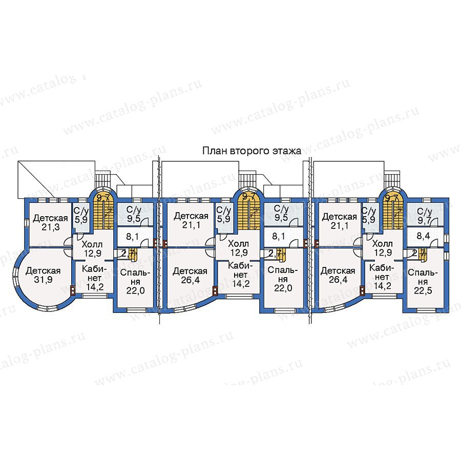 План 3-этажа проекта 35-20