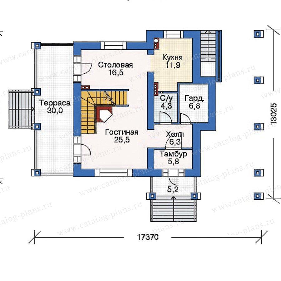 План 2-этажа проекта 35-38