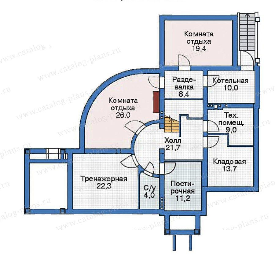 План 1-этажа проекта 35-88