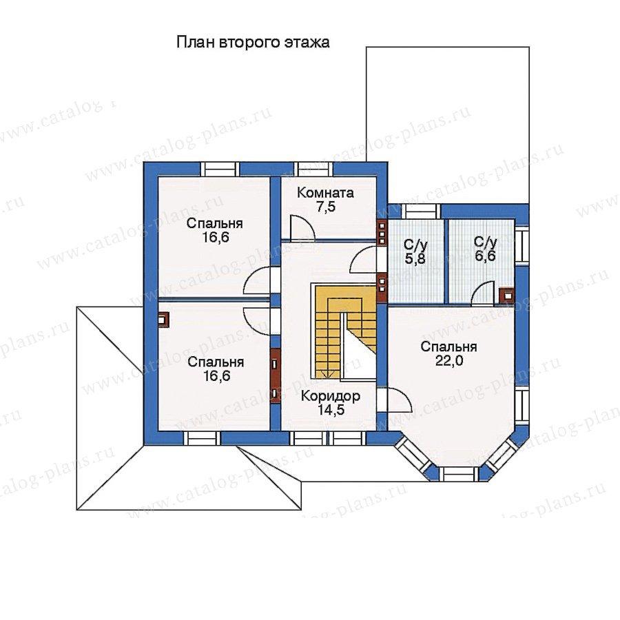 План 2-этажа проекта 35-25