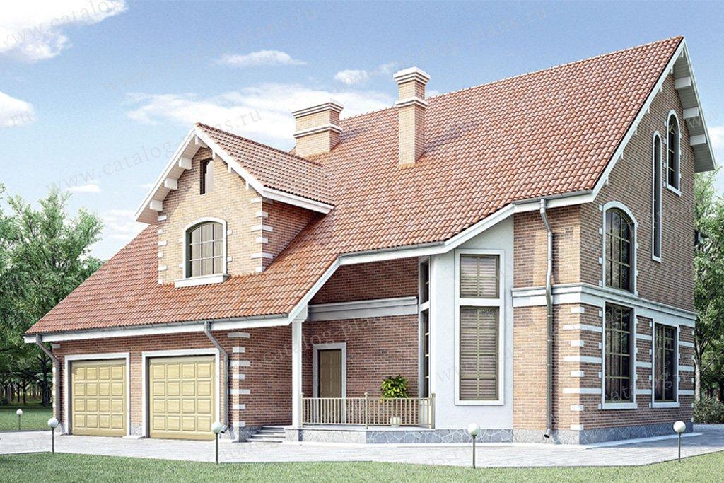 Проект жилой дом #35-11 материал - кирпич, стиль европейский