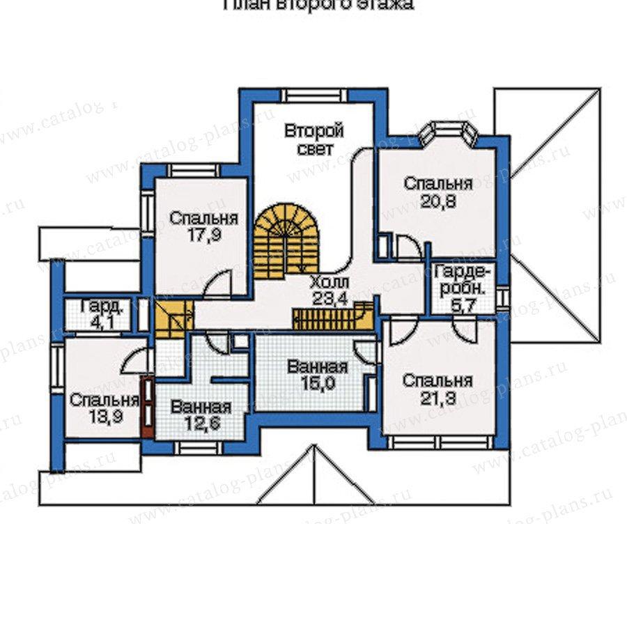 План 2-этажа проекта 35-10