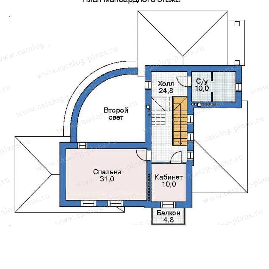 План 3-этажа проекта 35-88