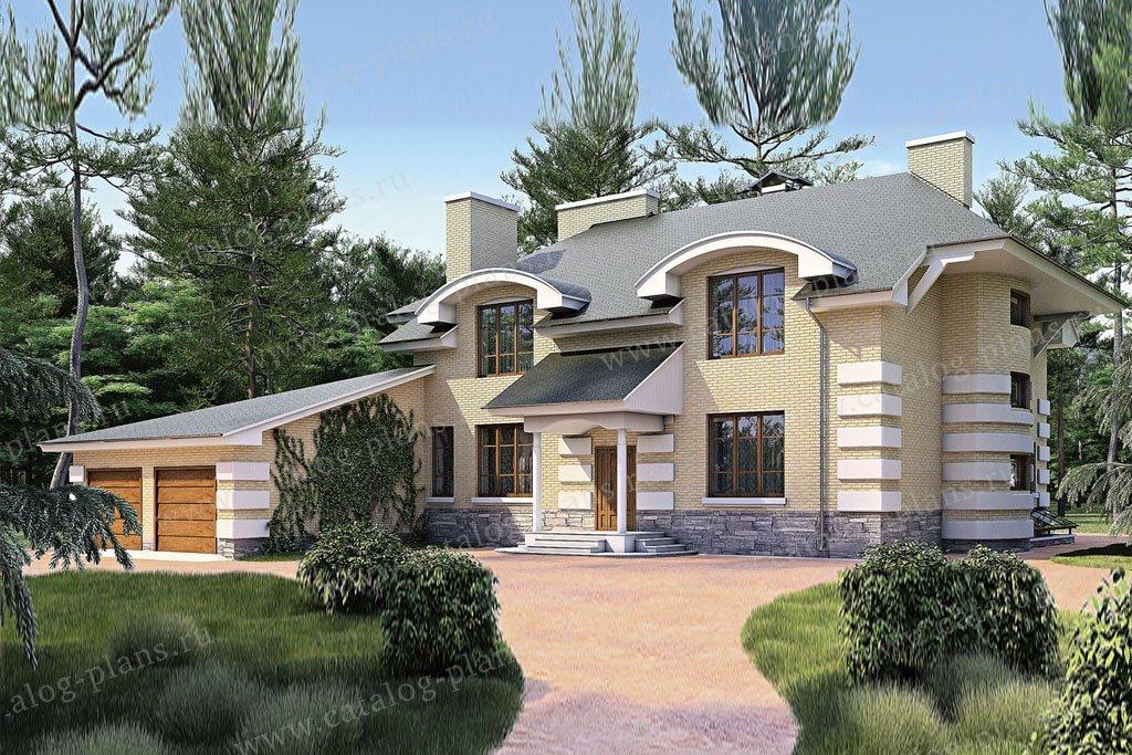 Проект жилой дом #35-64 материал - кирпич, стиль классический