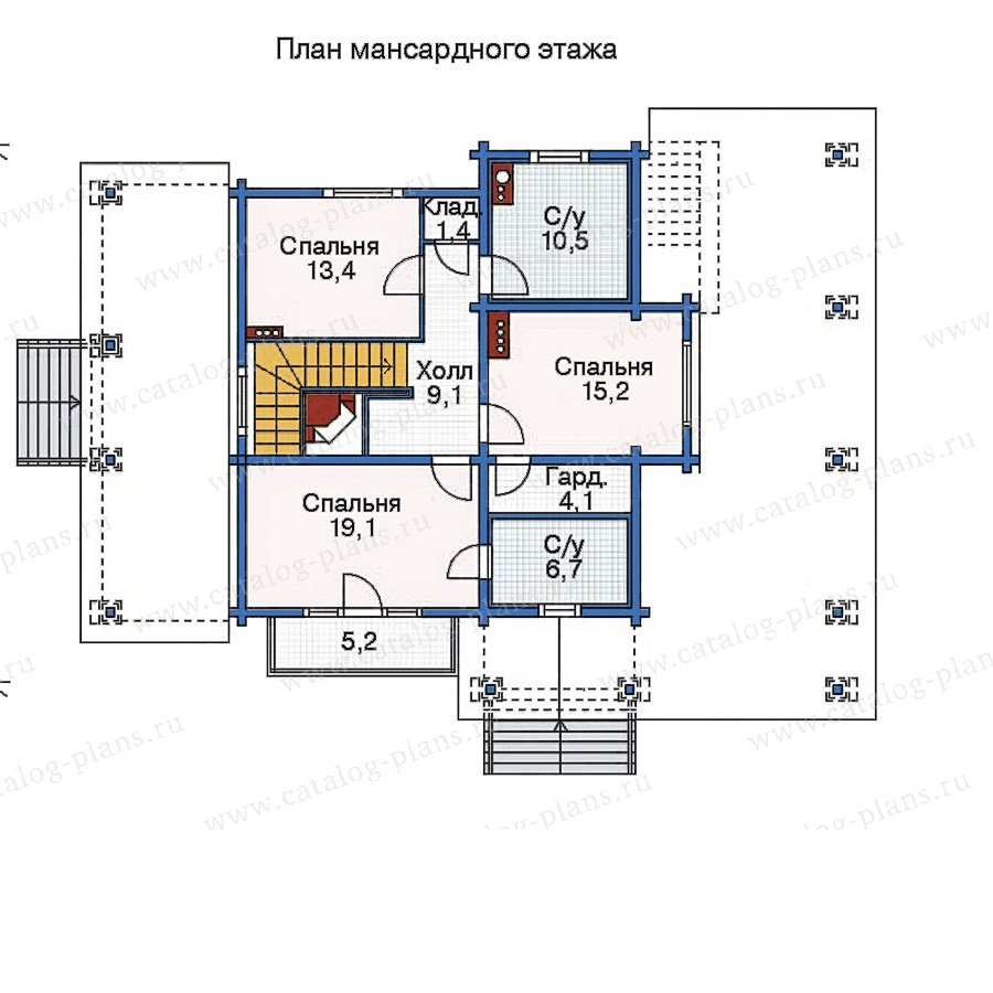 План 3-этажа проекта 35-38