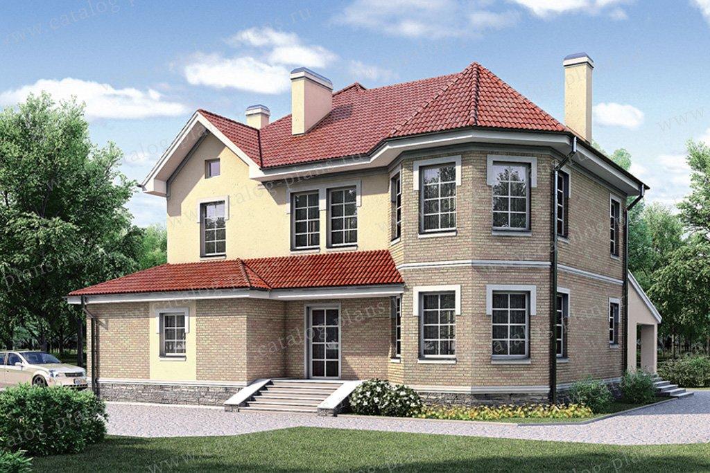 Проект жилой дом #35-25 материал - кирпич, стиль американский