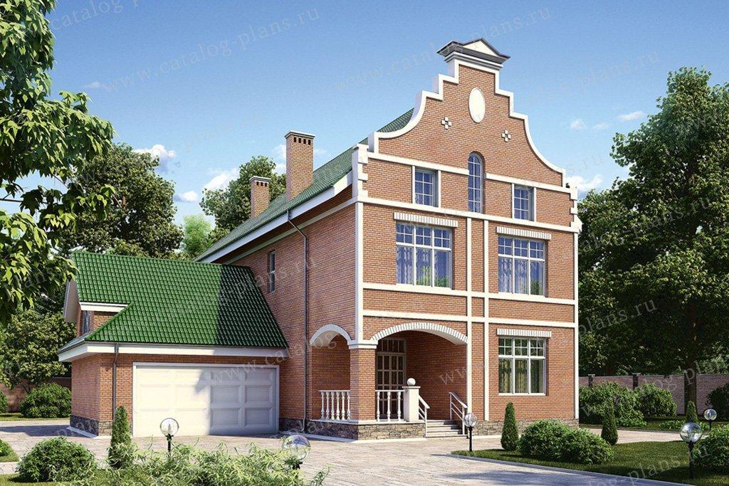 Проект жилой дом #35-15 материал - кирпич, стиль шведский