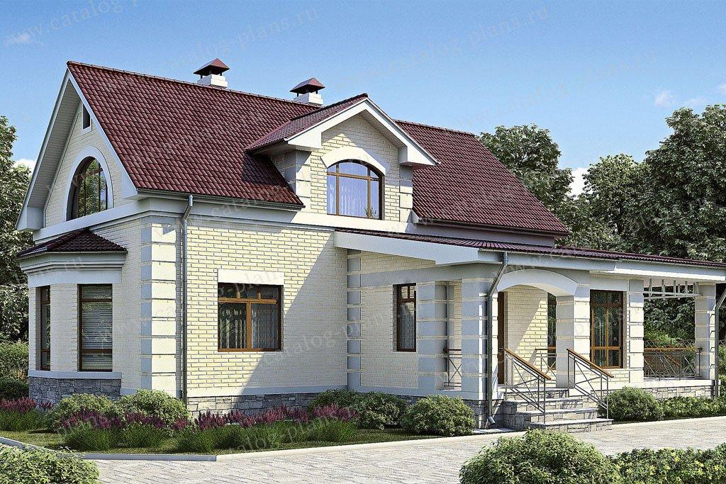 Проект жилой дом #35-76 материал - кирпич, стиль классический