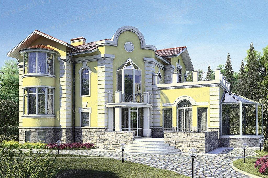 Проект жилой дом #35-87 материал - кирпич, стиль рококо