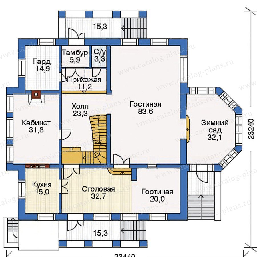 План 2-этажа проекта 35-26