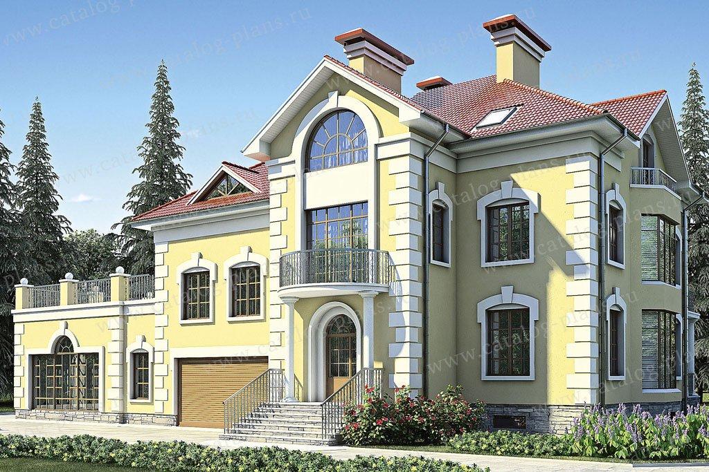 Проект жилой дом #35-81 материал - кирпич, стиль классический