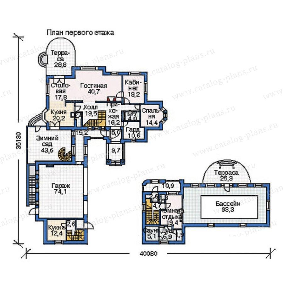 План 2-этажа проекта 35-79