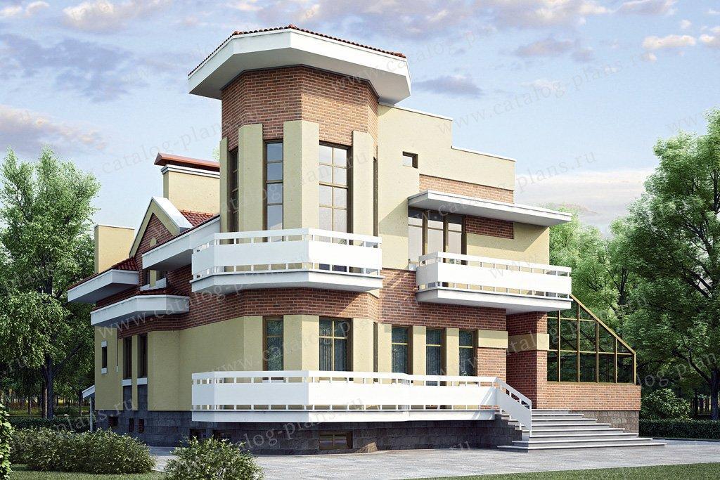 Проект жилой дом #35-18 материал - кирпич, стиль современный