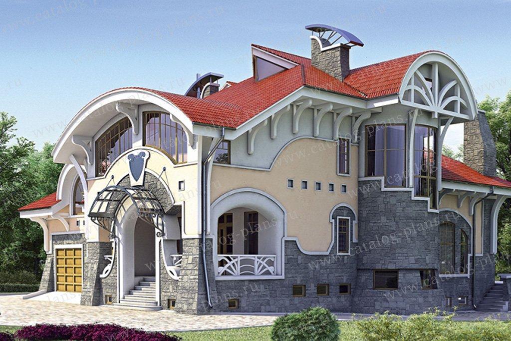 Проект жилой дом #35-19 материал - кирпич, стиль модерн