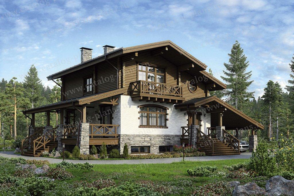 Проект жилой дом #35-38 материал - комбинированный, стиль шале